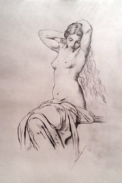 """Master copy of Hippolyte Flandrin's """"Seated Female Nude"""""""