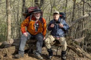 DF-00953_R (l to r) Nick Nolte stars as Stephen Katz and Robert Redford as Bill Bryson hiking the Appalachian Trail in Broad Green Pictures upcoming release, A WALK IN THE WOODS. Credit: Frank Masi / Broad Green Pictures