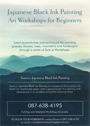 Sumi-e Japanese Black Ink Painting Workshop scaled(1)
