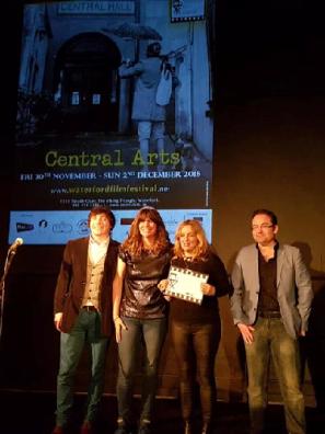 Runners up for the Best Screenplay Award Teatime written by Anna Merritt and Deborah Wiseman